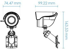Vivotek IB8360-W Dimensions