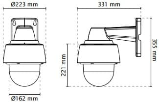 Vivotek SD9361-EHL Dimensions