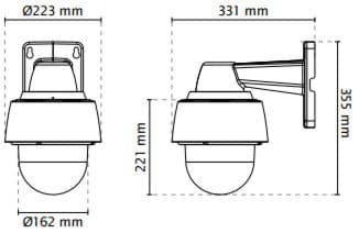 Vivotek SD9362-EH Dimensions