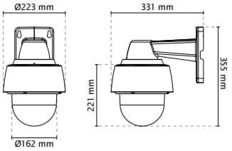 Vivotek SD9362-EHL Dimensions