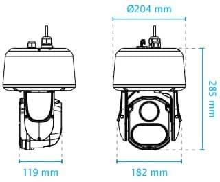Vivotek SD9363-EHL Dimensions