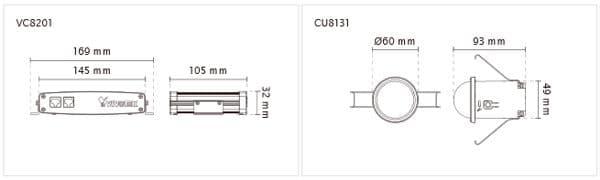 Vivotek VC8201-M11 Dimensions