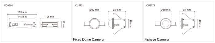 Vivotek VC8201-M13 Dimensions