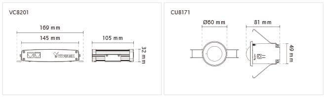 Vivotek VC8201-M33 Dimensions
