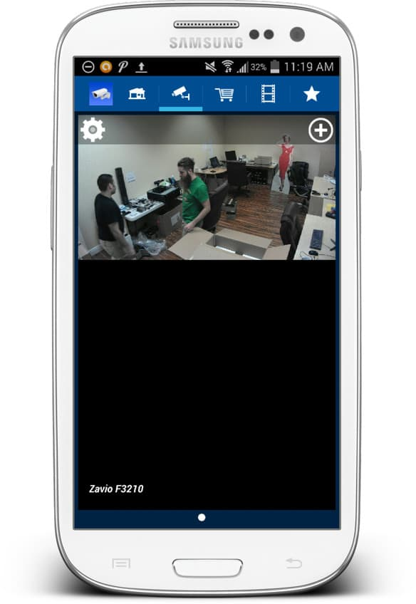 IP camera Android app live view