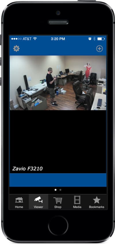 IP camera iPhone app live view