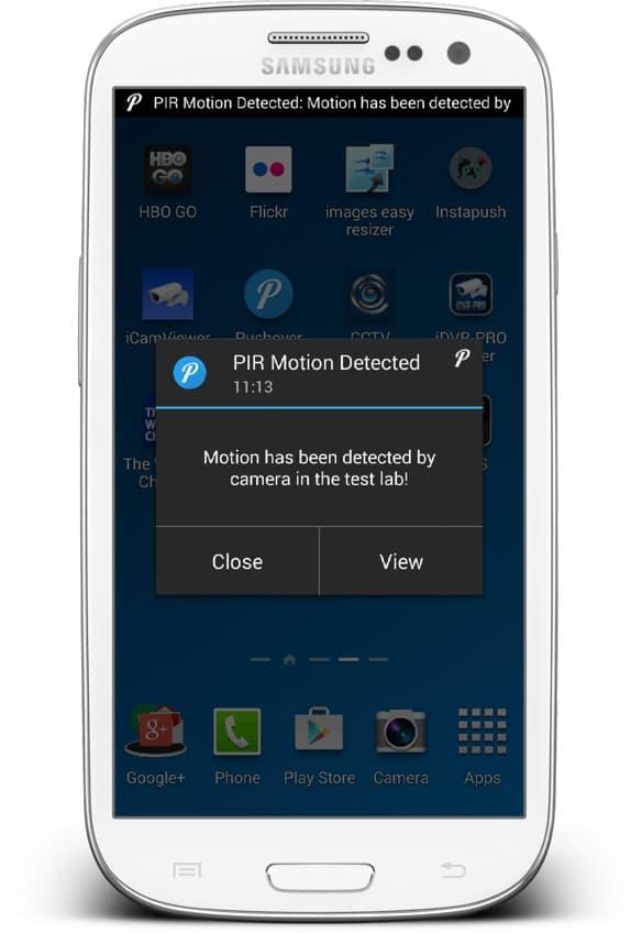 IP camera push notification Android