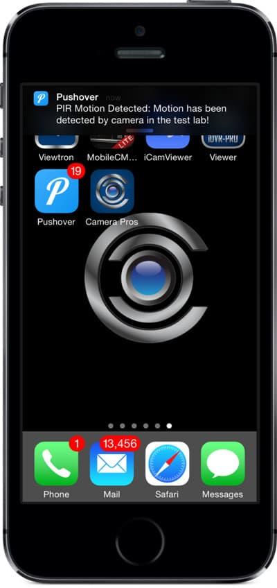IP camera push notification iphone