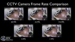 CCTV video frame rate comparison