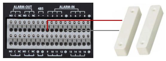 DVR Connected to Door Sensor Alarm