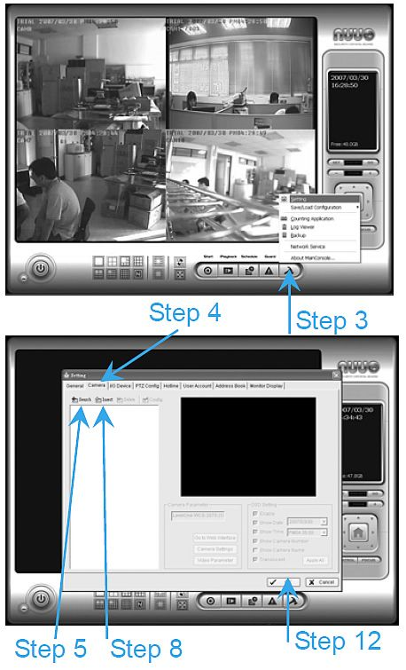 NUUO IP Camera Setup 1