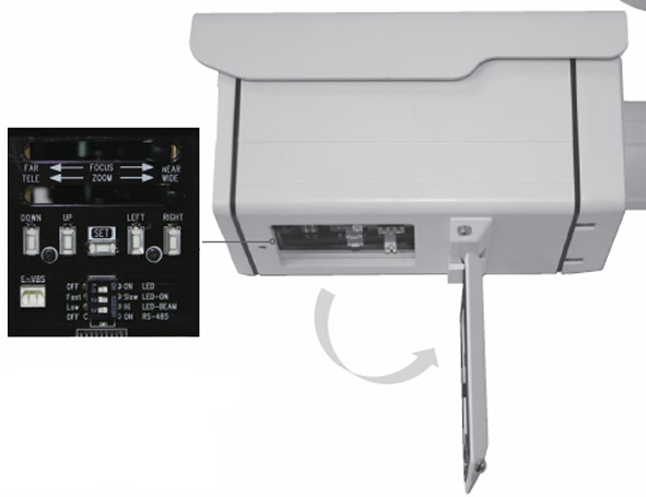 Outdoor CCTV Camera Controls