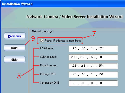 Video Stream Setup - Assign IP Address