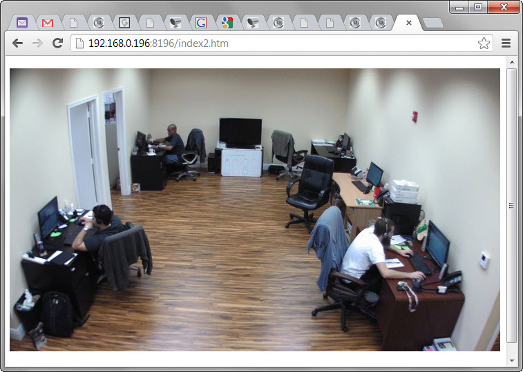 Embed IP Camera in Web Page
