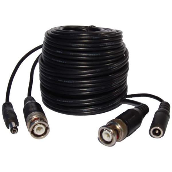 25 Foot Bnc Cables With Power Siamese Cable For Cctv Cameras