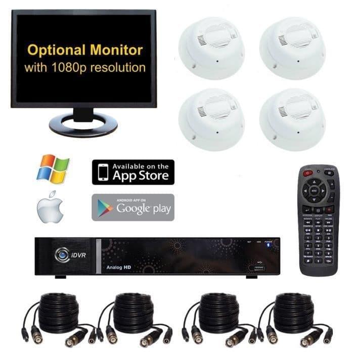 Home Surveillance System Smoke Detector Spy Cameras
