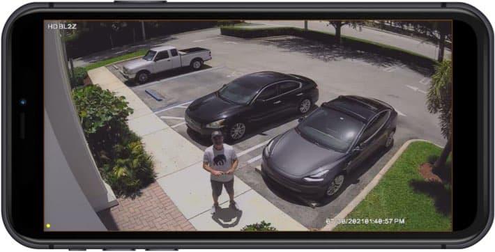 2mp Bullet CCTV Camera iPhone App View