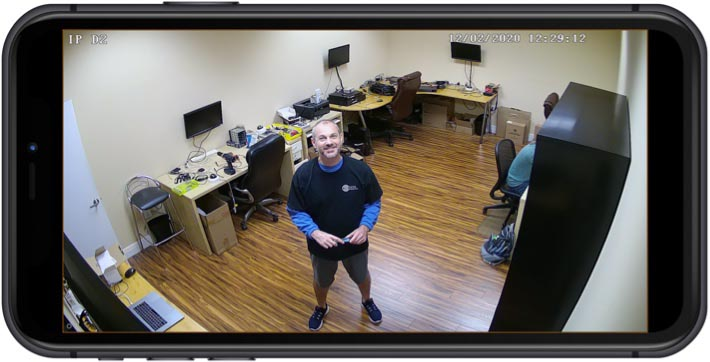 2mp IP Dome Camera iPhone App View