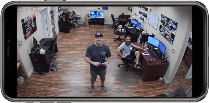 Dome Security Camera - Remote iPhone App View