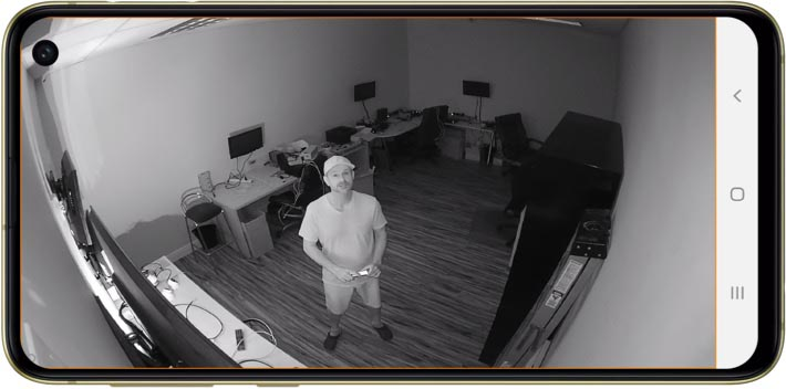View Infrared Wireless IP Camera from Android App