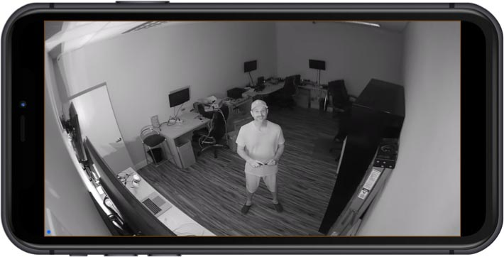 View Infrared Wireless IP Camera from iPhone App