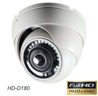 180 Degree Dome Security Camera 1080p Resolution