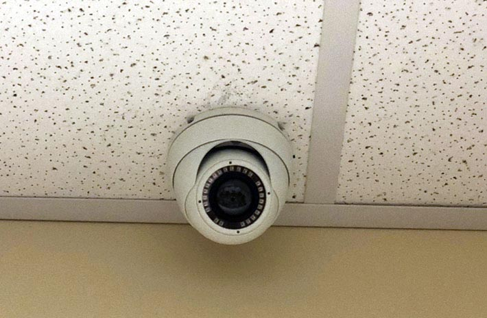 180 Degree Security Camera Ceiling Tile Installation