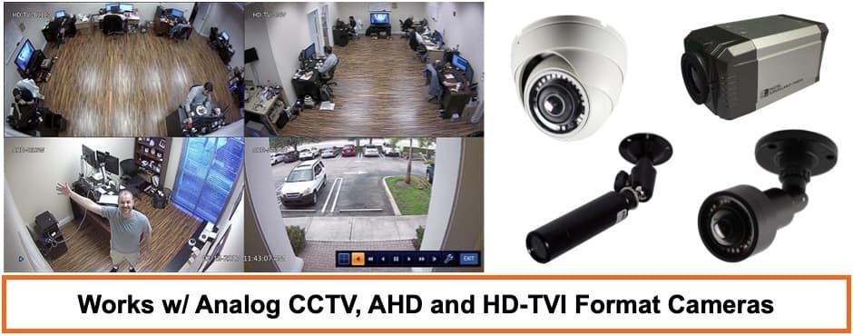 Hybrid 4K DVR HD-TVI, AHD, HD-TVI, analog CCTV Compatible