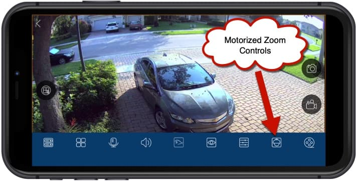 4K Outdoor Security Camera Motorized Zoom Mobile App