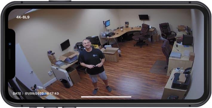 4K Infrared Security Camera iPhone App
