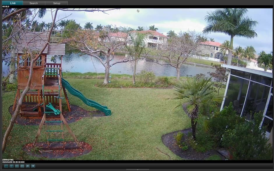 4K Security Camera View from Mac Software