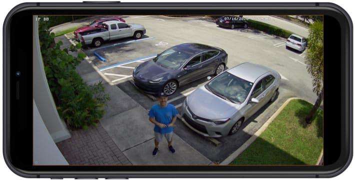 IP Camera iPhone View