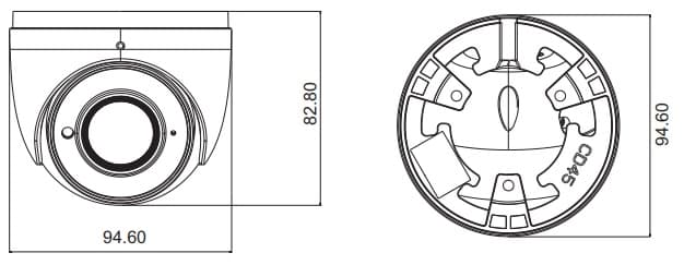IP Dome Camera Dimensions