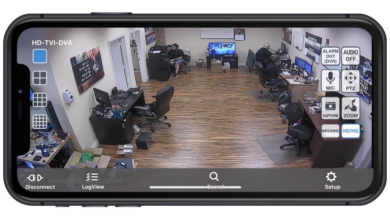 iPhone CCTV Camera App