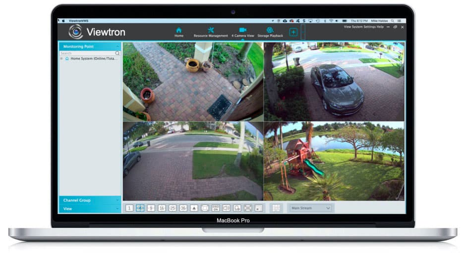 View Security Cameras from Mac Software
