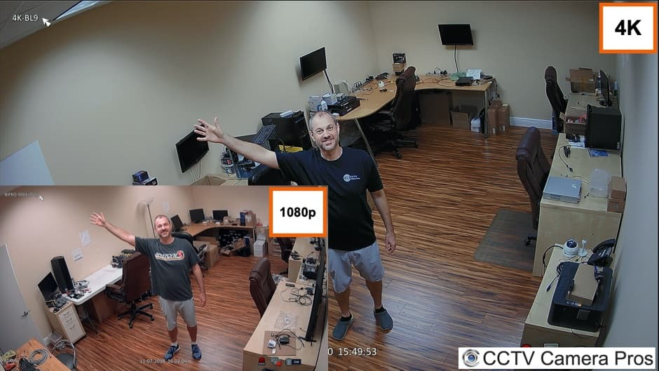 Security Camera 4K vs 1080p