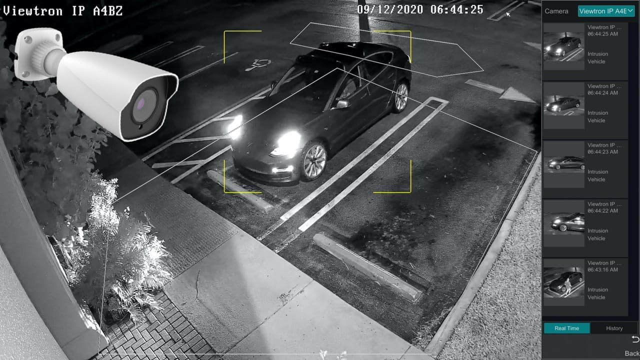 AI Security Camera Nighttime Car Detection