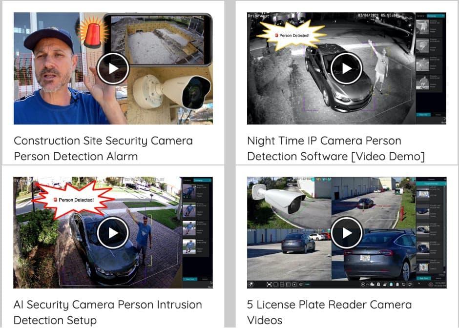 AI Security Camera Video Demos
