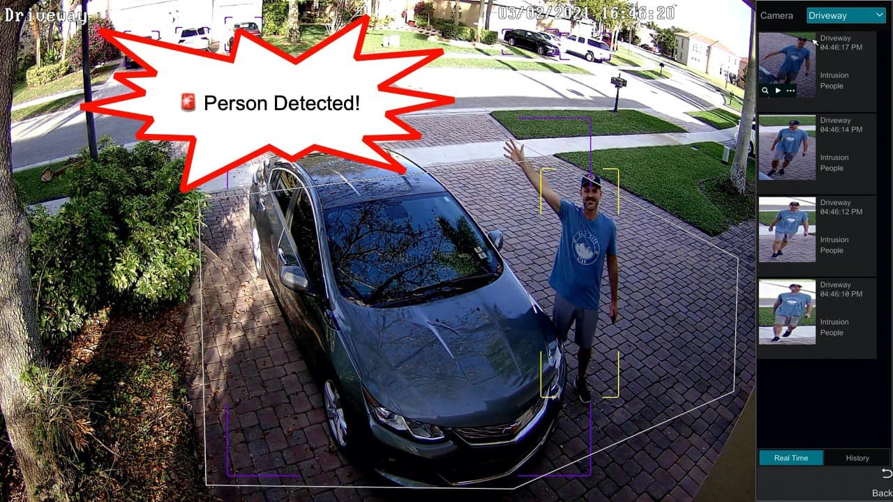 Home Security Camera System with AI Software