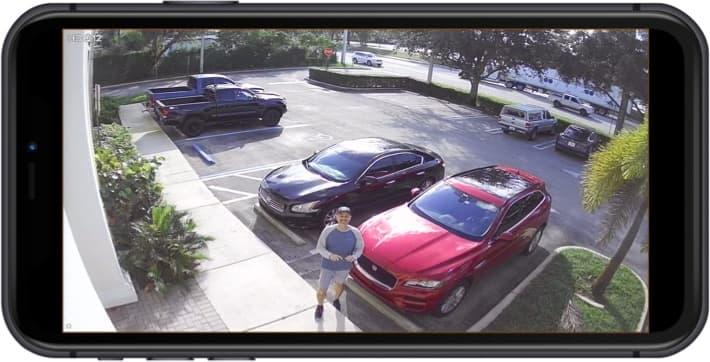 1080p BNC Security Camera iPhone App View