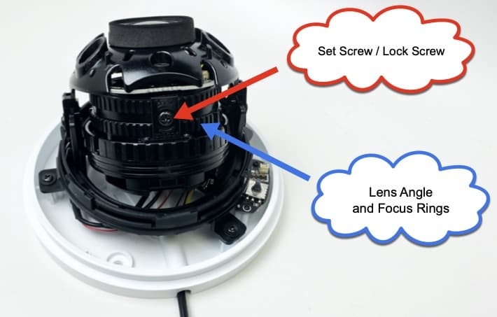 dome security camera adjustable lens