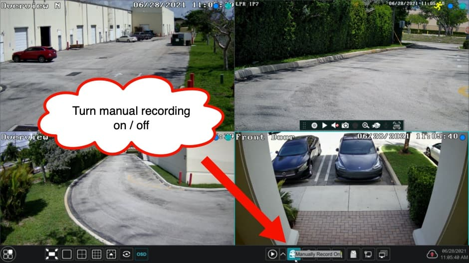 DVR Manual Recording