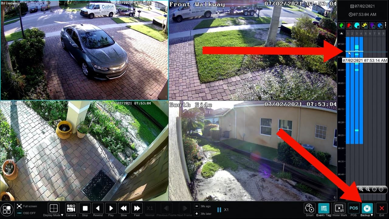 Video Surveillance DVR Recording Backup