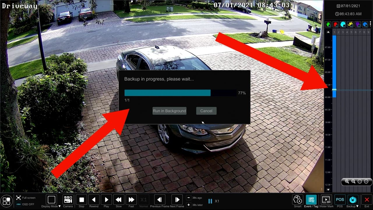Recorded Video Surveillance Backup