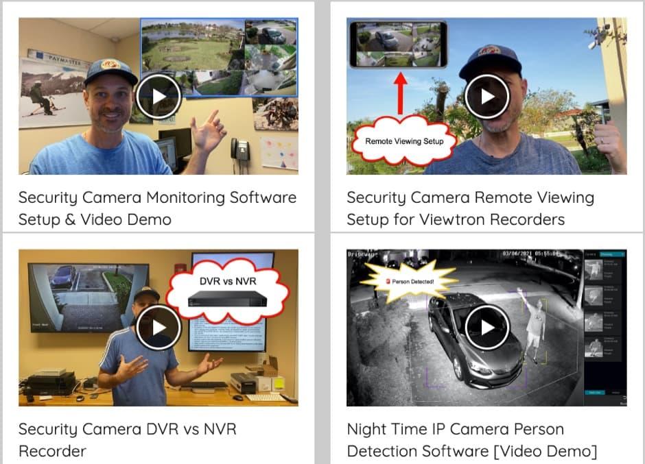 Security Camera Video Demos