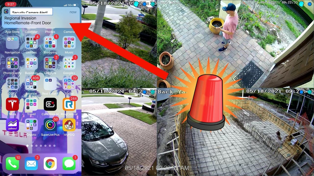 Security Camera Push Notification