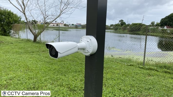 LPR Camera Pole Installation
