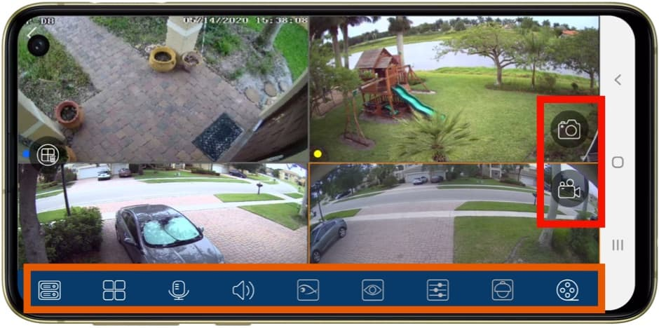 Android App Security Cameras