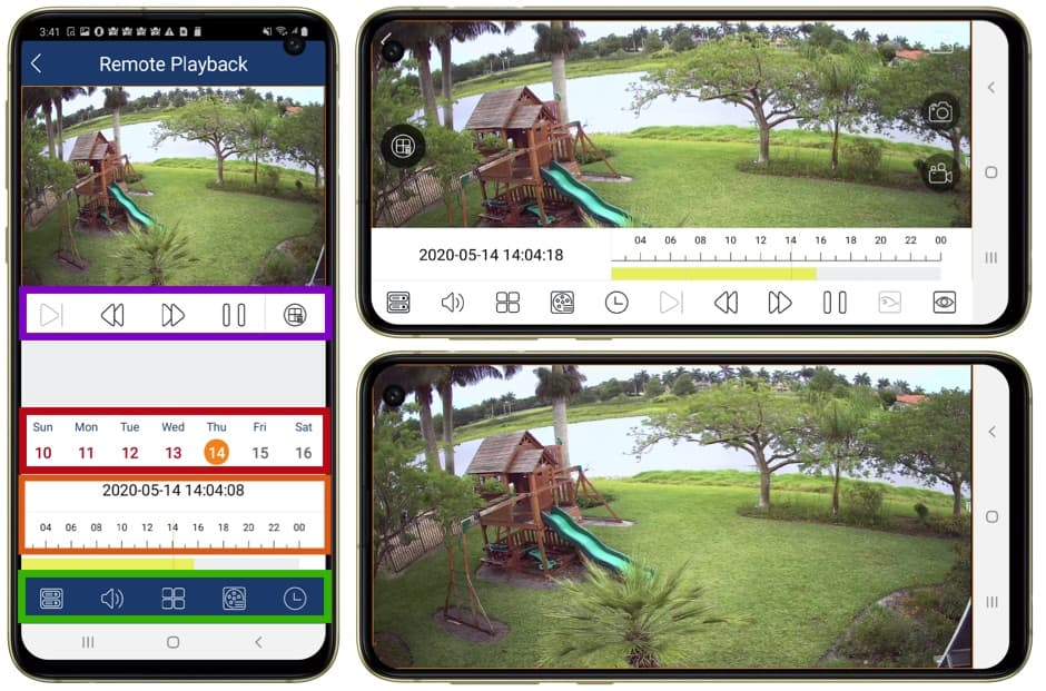 Android Security Camera DVR Video Playback