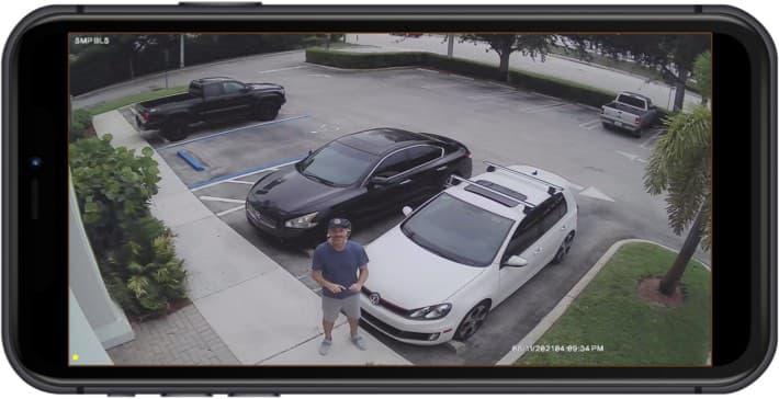 5MP CCTV Camera - iPhone App View